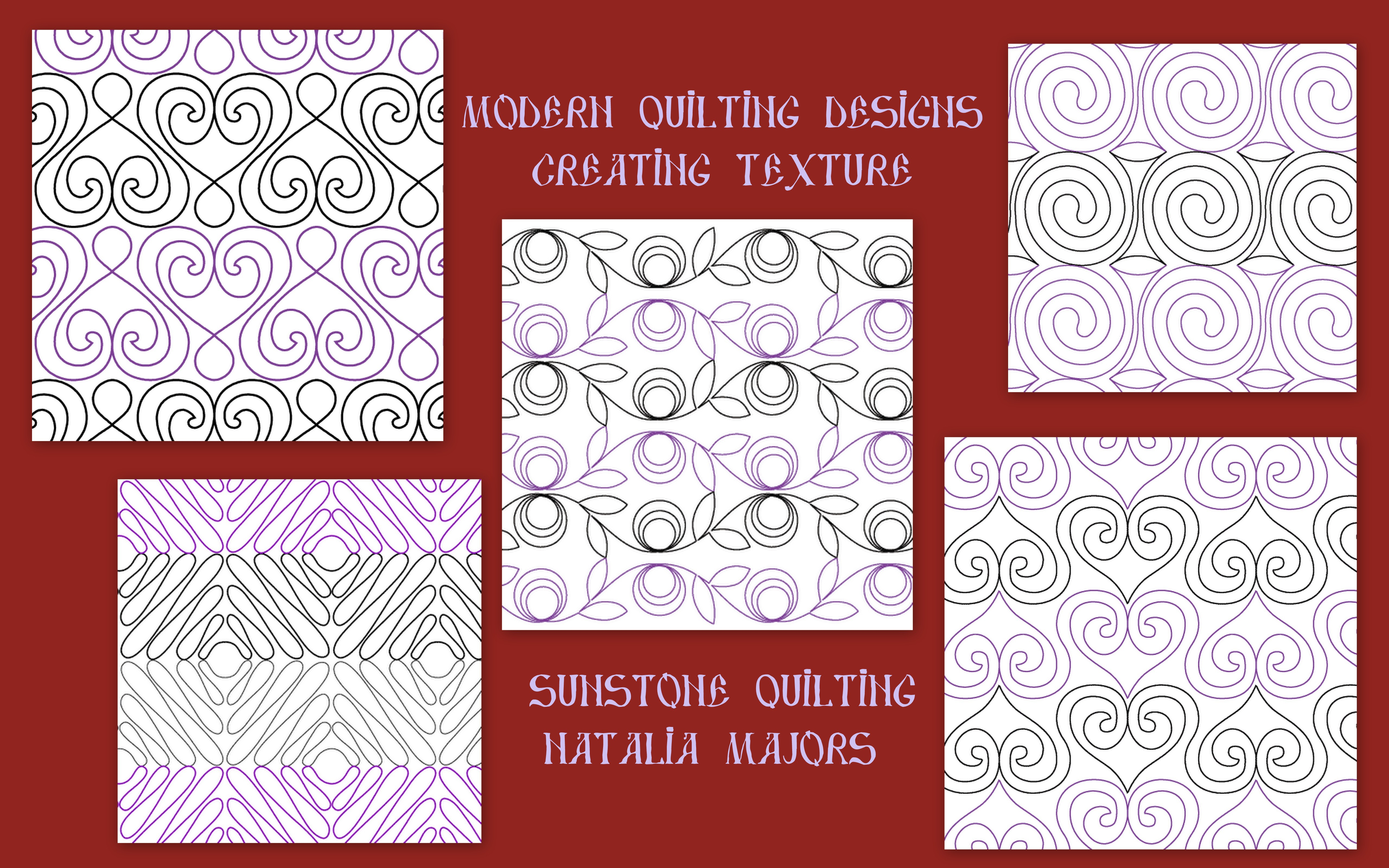 New 2013 Quilting designs for Modern quilts Sunstone Quilting